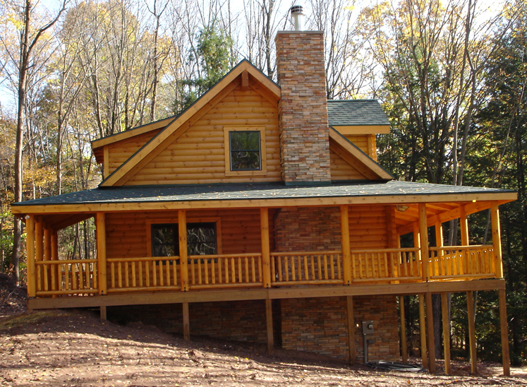 Jim barna log and timber homes mountainside log homes inc for Jim walter homes pictures